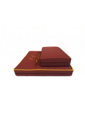 2-Pieces Meditation Cushion with Lotus Embroidery III