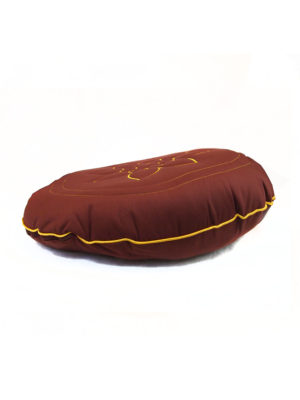 Circular Herbs Cushion with Lotus Embroidery IIII