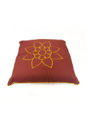 Square 100% Herbs Cushion with Lotus Embroidery I