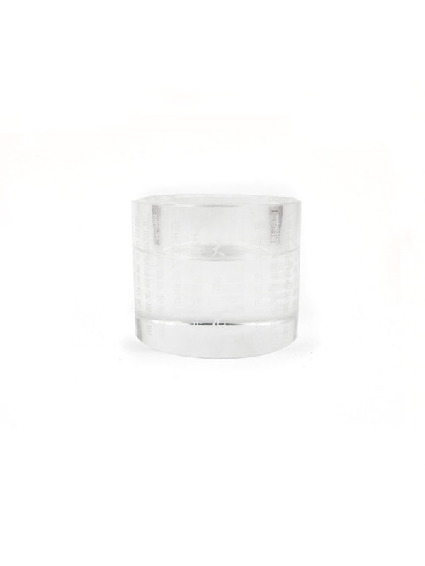 Engraved Great Compassion Mantra Crystal Candle Holder 1