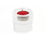 Engraved Great Compassion Mantra Crystal Candle Holder 3