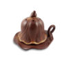 Inverted Lotus Seed Pod on Leaf Incense Burner 1
