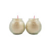 Lotus Embossed Shortening Candle Lamp in White (Small)