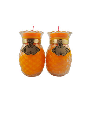 Prosperity Shortening  Candle Lamp in Orange (Medium)