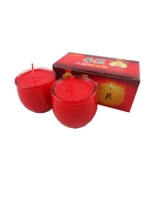 Shortening Candle Cup in Red II