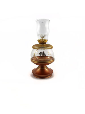 Gold-plated Mesh Lid Glass Oil Lamp 1