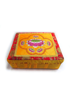 Lotus Fabric Cover Prayer Stool 1