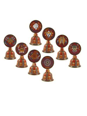 Cloisonne-Eight-Auspicious-Symbols-in-Red