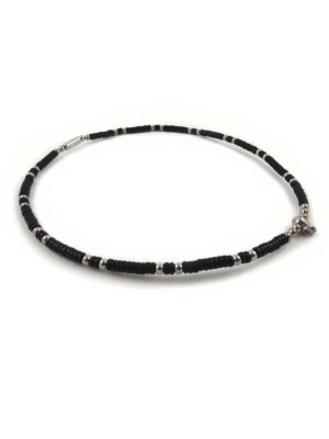 Coconut-Shell-One-Hook-Amulet-Necklace-with-Silver-Beads-51.5cm-2