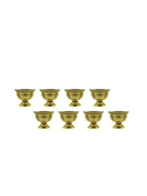 Gold-Offering-Bowl-with-Stand-Small-Set