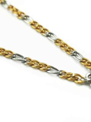 Gold-and-Silver-Stainless-Steel-Chain-One-Hook-Amulet-Necklace-1-64cm-2