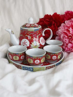 Blissful Marriage Red Tea Set 1