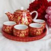 Double Happiness Red & Gold Tea Set 1