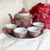 Traditional Long-lasting Marriage Pink Tea Set 1
