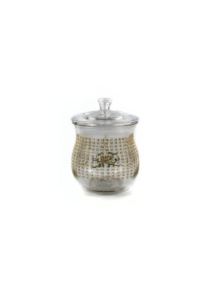 Transparent Glass Great Compassion Mantra Offering Cup with Lid 2