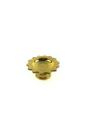 Gold Plastic Offering Plate (7cm) 2