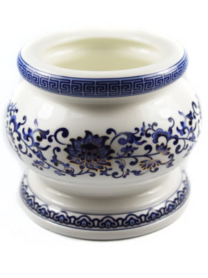 Blue Lotus Porcelain Incense Burner (Medium) 2