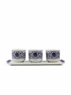 Blue Lotus Three Offering Cup Set 1