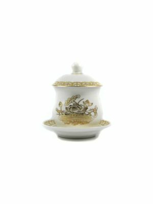 Gold Lotus Offering Cup with Lid 1