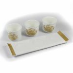 Gold Lotus Three Offering Cup Set 3