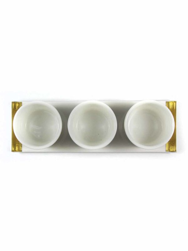 Gold Lotus Three Offering Cup Set 4