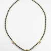Coconut Shell Three Hooks Amulet Necklace with Gold Beads (75.5cm) 1