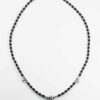 Coconut Shell Three Hooks Amulet Necklace with Silver Beads (75.5cm) 1