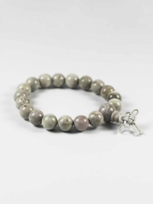 Grey Agate Bracelet (10mm) 2