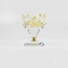 Yellow Crystal Lotus Candle Holder (Short) 1