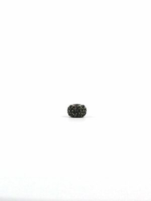 Black Crystal Spacer Charm Bead 1