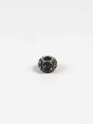 Black Crystal Spacer Charm Bead 2