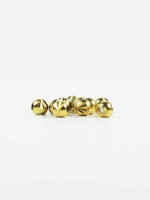 Gold-plated Carved Round Beads (6mm) 2