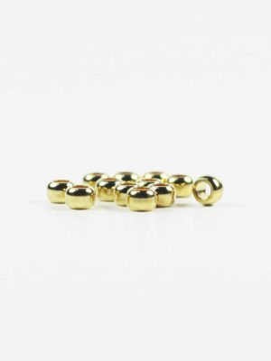 Gold-plated Drum-shaped Beads (6mm) 2