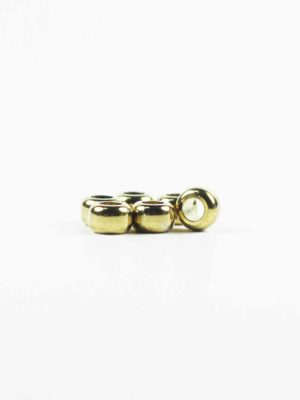Gold-plated Drum-shaped Beads (8mm) 2