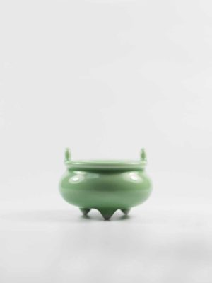 Green Ceramic Incense Burner with Ears 1