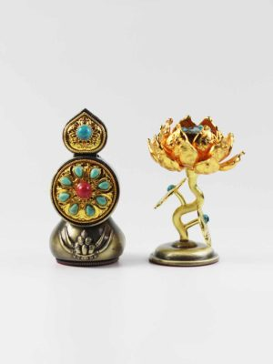 Copper Flower and Food Torma Set (8.5cm) 1