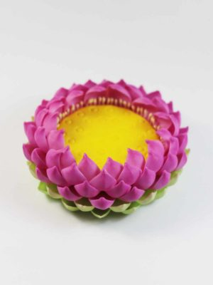 Clay Lotus Stand (7.5cm) 2