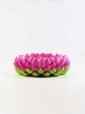 Clay Lotus Stand (8.5cm) 1