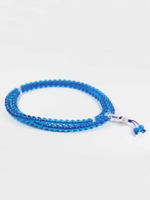 Colour-glazed Blue Glass Mala 108 Beads (8mm) 2