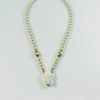 Cow Bone Elephant Head One Hook Amulet Necklace with Gold Beads (47.5cm) 1
