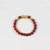 Red Agate Bracelet with Gold-plated Pixiu 1