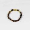 Yellow Tiger Eye Bracelet with Gold-plated Pixiu 1