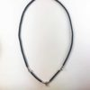Coconut Shell Three + One Hooks Amulet Necklace with Silver Beads (76cm) 1