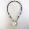 Cow Bone Elephant Head One + One Hooks Amulet Necklace with Gold and Coconut Shell Beads (48cm) 1