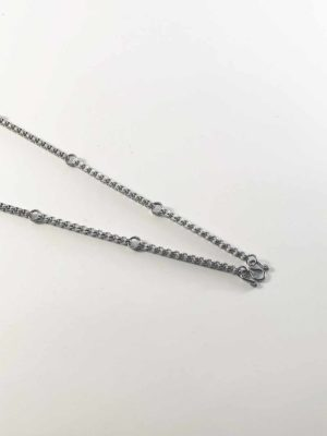 Stainless Steel Squarish Chain Seven Hooks Amulet Necklace (76cm) 2