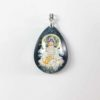 Guanyin with Crystal Ball Teardrop Pendant 1