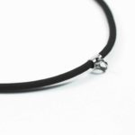 Black Nylon String Three + One Hooks Amulet Necklace in Silver (66cm) 4